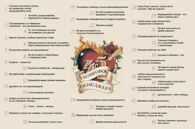 45 татуировок менеджера: главные идеи книги и бизнесе