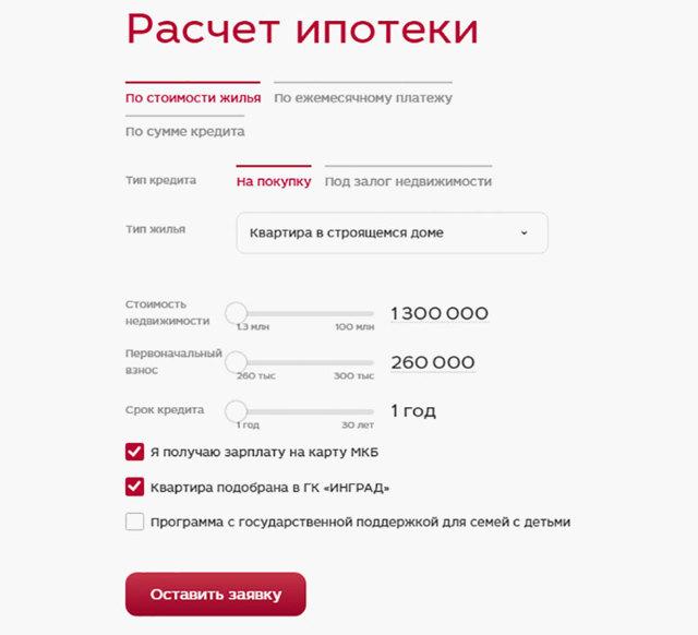 Ипотека в МКБ: условия кредитования и процесс подачи заявки