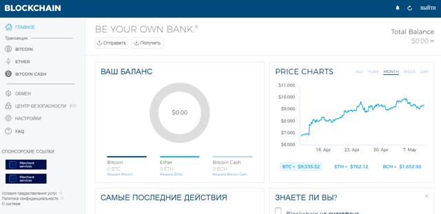 Блокчейн кошелек: регистрация на сайте, пополнение и вывод криптовалюты