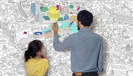 Обои раскраски: как превратить детское увлечение в бизнес