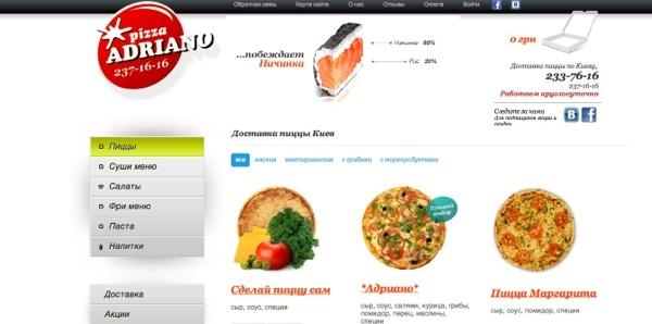 Доставка пиццы Киев: бесплатный сервис от ресторанов