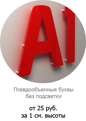 Объемные буквы в рекламе: изготовление световых вывесок
