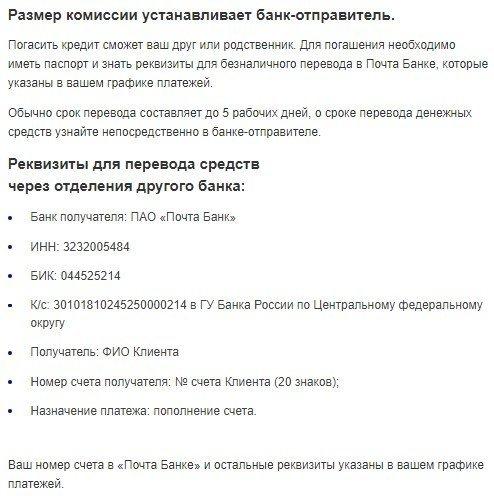 Кредитная карта Почта Банка Элемент 120: условия получения