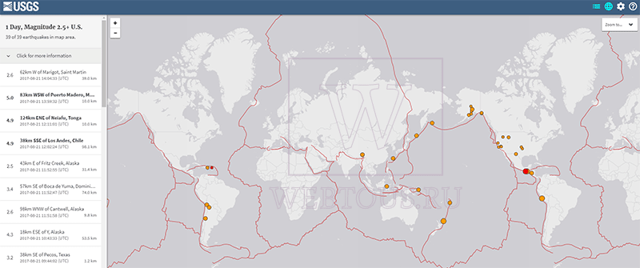 Статистика землетрясений: сводные данные по всему миру
