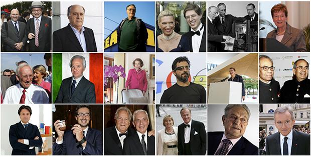 Статистика богатых: список самых успешных людей по странам
